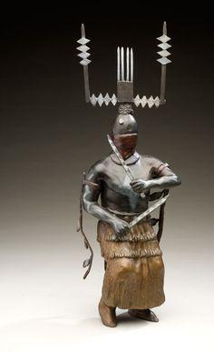 Joe L. Jojola, Mescalero Apache Mountian Spirit Dancers, Libayé & Maiden, 1999, Bronze
