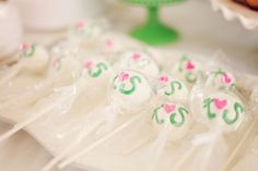 Bridal Cake or Cookie Pops...made in to bouquet...for Bridal Shower favor