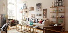 Olivia Palermo Home - Olivia Palermo Decorating - House Beautiful. Coffee tables, shelves, light!