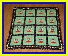 SpongeBob Square Pants Blanket/ inspired by LoveCareHandmade on Etsy https://www.etsy.com/listing/257396716/spongebob-square-pants-blanket-inspired