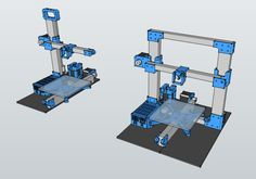 you can modify your TekBot 3D printer. On indiegogo you will get all STL files.
