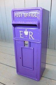 Original British Cast Iron Post Box Royal Mail Boxes Pillar Antique
