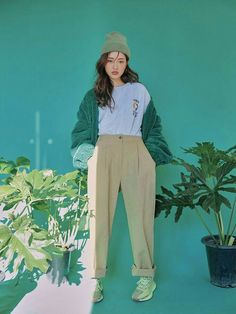 Korean Outfits, Mode Outfits, Casual Outfits, Ulzzang Fashion, Korean Fashion, Poses, Stylenanda, Mode Inspiration, Aesthetic Clothes