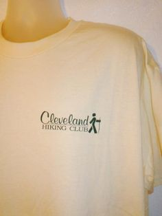 Vintage Cleveland Hiking Club T-Shirt Light Yellow XL #Hanes #GraphicTee