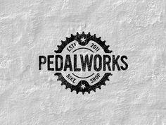 Pedalworks-logo | #logo #corporatedesign #corporateidentity #identity #corporate #inspiration <<< repinned by www.BlickeDeeler.de | Follow us on www.facebook.com/BlickeDeeler.de