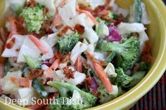 Deep South Dish: Broccoli and Cauliflower Refrigerator Salad