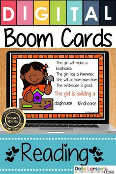 Boom Cards Spring reading ideas for kindergarten and first grade. Get ready for an easy no-prep reading comprehension center. This digital resource assesses your student's ability to answer questions about a text. Build beginning reading skills. A perfect addition to your literacy centers. Boom Cards are self-checking. Build fluency and increase reading skills in your kindergarten class. #Boomcards #kindergarten #readingcomprehension #springideas Kindergarten Readiness, Literacy Skills, Kindergarten Classroom, Literacy Centers, Classroom Ideas, Interactive Learning, Fun Learning, Teaching The Alphabet, Primary Teaching
