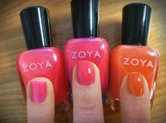 The exlusive Zoya Blogger by Birchbox Collection shades over a base of Zoya Snow White to really make the color POP!