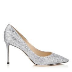 Image result for jimmy choo silver glitter shoes