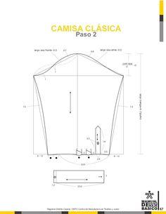 Manual de patronaje CMT - SENA Collar Pattern, Jacket Pattern, Clothing Patterns, Sewing Patterns, Pattern Drafting Tutorials, Camisa Slim, Pola Lengan, Sewing Doll Clothes, Fashion Templates