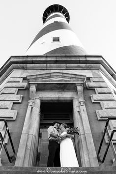 Hatteras Island, NC Outer Banks, Cape Hatteras Lighthouse, beach wedding, Wedding photography