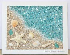 Sea glass art   Etsy