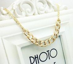 Złoty naszyjnik z łańcuchem Silvona