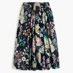 This skirt's pretty much perfect for anything: weekends, vacation, summer Fridays... It features a pattern from Liberty Art Fabrics (the British print house that's been known for its mood-lifting florals since 1875), plus a flattering silhouette and an easy elastic waist. Sits at waist. Length: 28 1/2. Falls below knee. Cotton. Machine wash. Import. Select stores.
