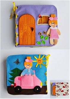 Dollhouse Quiet Book/ 8 pages/ Felt Quiet Book/ by WeriBeauties