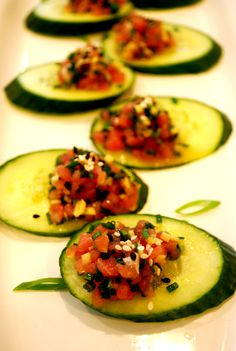 Asian Tuna Tartare appetizer recipe- great for New Year's Eve