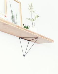6 Creative And Inexpensive Tricks: Shelf Living Room Ikea Hacks shelf paper desks. Rope Shelves, Plant Shelves, Shelf Behind Couch, Tree Shelf, Shelf Paper, Triangle Shelf, Hygge Home, Hardware, Shelf Brackets