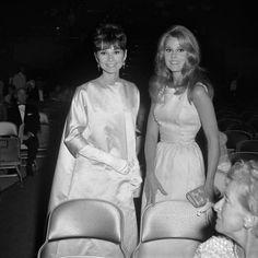 Audrey Hepburn and Jane Fonda at the 1965 Academy Awards