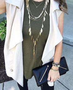 Covetable layering style. #icovet #stelladotstyle #ootd #fashion #jewellery #jewelry