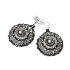 Kolczyki rozetki z perłą :: Sklep z biżuterią Colia.com.pl