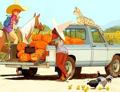 """woonyoung: """"The cowgirl witch needs to bring the farmer witch to her trip!! Please enjoy~ """""""