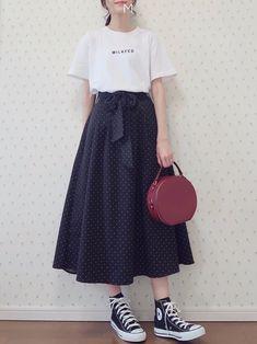 Korean Fashion – How to Dress up Korean Style – Designer Fashion Tips Cute Fashion, Modest Fashion, Look Fashion, Skirt Fashion, Fashion Dresses, Fashion Ideas, Fashion Tips, Korean Fashion Trends, Asian Fashion