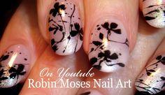 Flower Splatter Paint Nails #nails #nail #art #splatterpaint #splatterpaintnails #blackflowers #splatterflowers #splatterwithflowers #elegantnails #DIYnailart #howtonails #naildesign #nailtutorial