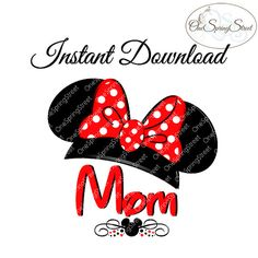 Disney Iron On Transfer Minnie MOM Family by OneSpringStreet