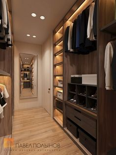 """Photo: Dressing room – Interior of an apartment in a modern style, LCD """"House by the Birch Garden"""", 168 sq. Walk In Closet Design, Bedroom Closet Design, Master Bedroom Closet, Wardrobe Design, Closet Designs, Master Bedroom Design, Dressing Room Closet, Dressing Room Design, Bedroom Wardrobe"""