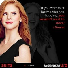 Suits - Donna... I would love to be like her!