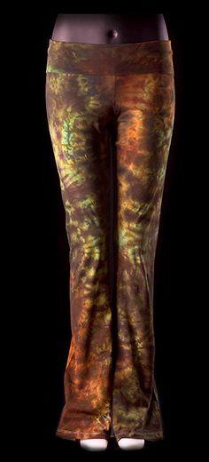 Tie Dye Gaia Yoga Pants by Wildflowerdyes on Etsy, $39.00