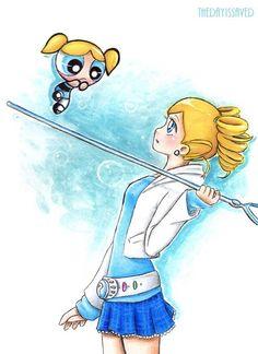 The Powerpuff Girls by TheDayIsSaved on DeviantArt Power Girl, Power Puff Girls Z, Powerpuff Girls Cartoon, Cartoon Shows, Cartoon Characters, Fictional Characters, Bubbles And Boomer, Super Nana, Loli Kawaii
