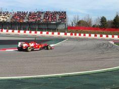 Fernando Alonso on track (Barcelona, 03-03-2013)