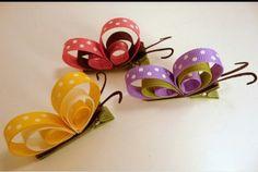 Cloth clip butterflies