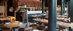Amazing interiors of the newly opened Bibigo Restaurant in London. Style Matters bespoke furniture featured inside.