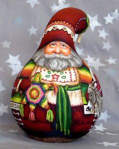 feliz navidad mexico inspired santa claus hand by suzyssantasetc - Santa Claus And Jesus 2