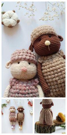 Amigurumi Sleeping Lamb Free Pattern – Free Amigurumi Patterns Crochet Animals, Crochet Toys, Free Crochet, Amigurumi Doll, Amigurumi Patterns, Crochet Patterns, Oita, Super Cute Animals, Easter Crochet