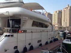 Amer 82 moored in The Pearl, Doha, Qatar