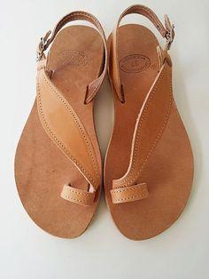 Leather sandalsToering Sandal Flat Sandals Greek by Leatherhood, €32.69