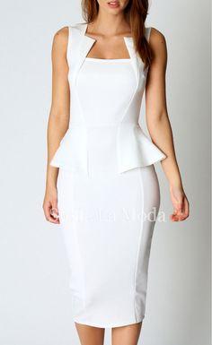 68ef8d3509 Abi Neck Detail Sleeveless Midi Dress - Stella La Moda