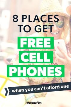 Cell phone service can be incredibly expensive. And that assumes you can afford a phone to begin with. To help ease the burden for those of us feeling the financial squeeze, one of our writers put together a list of 8 places you can get a free cell phone, and free or cheap cell phone service to go with it. Cheap| Free| Free Phones| Save Money Old Cell Phones, Free Cell Phone, Cheap Cell Phones, Free Phones, Best Cell Phone, How To Get Money, Make Money Blogging, Saving Money, Money Tips