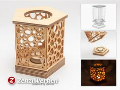 5-sided Grill Lantern cnc/laser by ZenziWerken - Thingiverse
