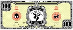 Monopoly bank note 100 poly by ironic440 on DeviantArt Monopoly Party, Monopoly Theme, Monopoly Man, Memo Template, Notes Template, Coupon Template, Templates, 1000 Dollar Bill, Monopole