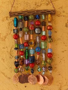 Glass Bead Wind Chime. Easy to make and very pretty!  I love the vibrant colors!