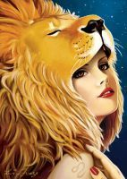 The Zodiac: Leo by fyreling - would make a great pinup tattoo!