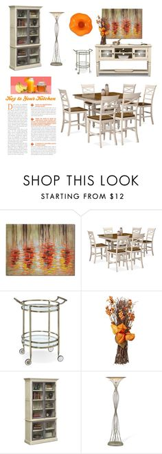 The Key to Your Kitchen by amsigfurniture on Polyvore featuring interior, interiors, interior design, home, home decor, interior decorating, kitchen, orange, homedecor and homedesign
