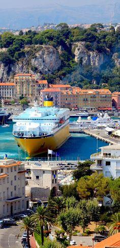 Beautiful harbor of Nice, France |