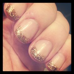October nails - bronze & gold French manicure Photo by trec_lit