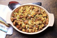 Stuffing is the perfect Thanksgiving dish. Stuffing Seasoning, Holiday Side Dishes, Meatloaf, Period, Stuffed Mushrooms, Spices, Turkey, Thanksgiving, Inspiration