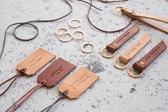 DIY: Leather Keychains & Luggage Tags